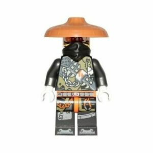 LEGO-NINJAGO-Dragon-Hunter-Minifigure-Gold-2x-Katana-1x-Shuriken-Exclusive