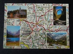 CPM-Hautes-Pyrenees-with-views-Lourdes-Gavarnie-Lake-of-Gaube-Bridge-Napoleon