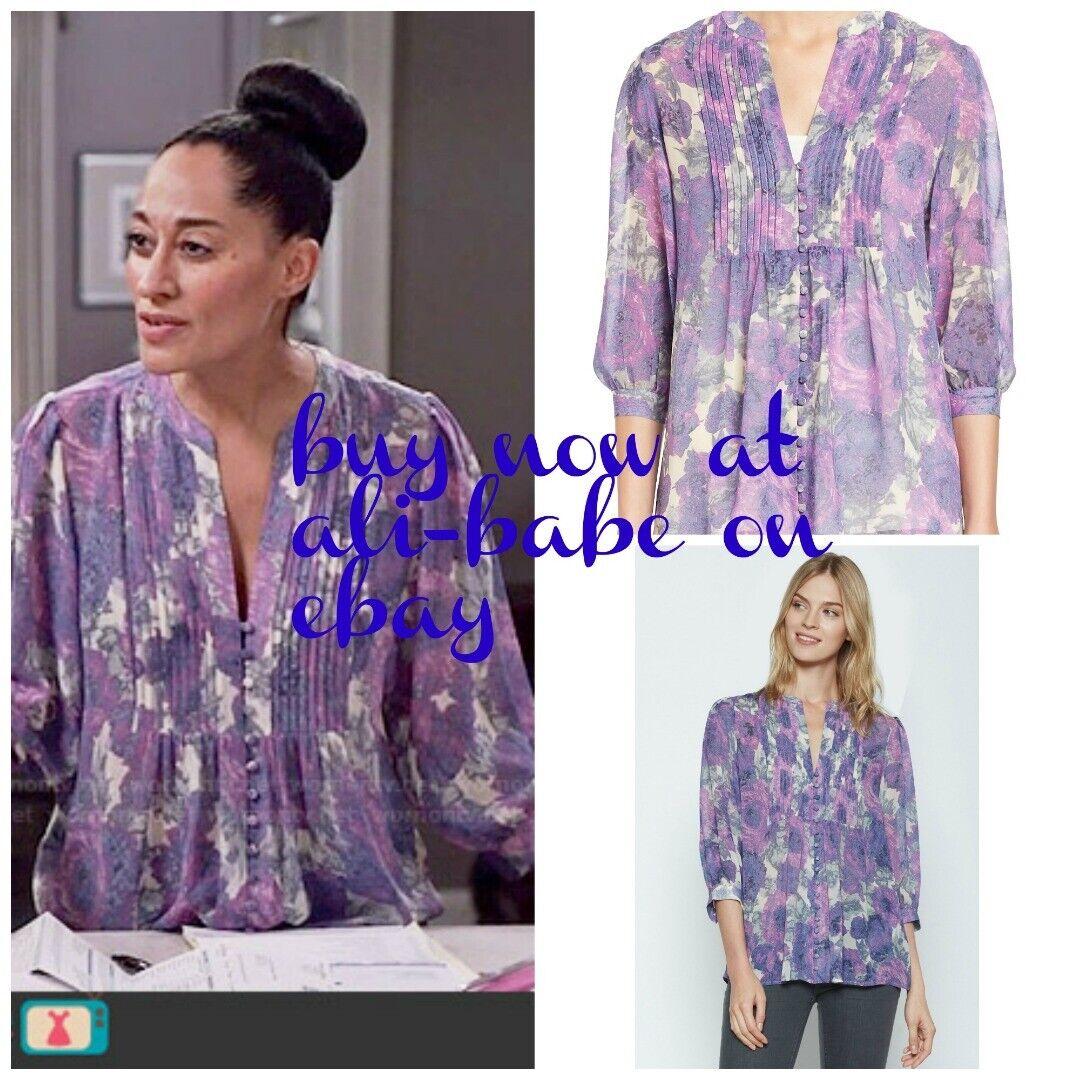 Joie Para Mujer Estampado Floral-Púrpura  DATEV Seda azulsa S Pequeño  268  barato en alta calidad
