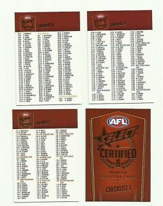 2016-AFL-SELECT-CERTIFIED-CHECKLIST-SET-4-CARDS