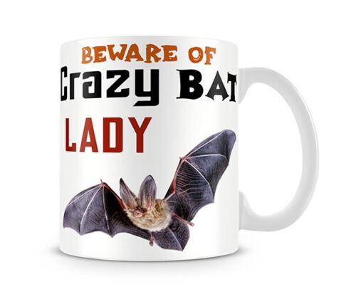 Beware of crazy Bat Lady Unique design Novelty Gift Mug