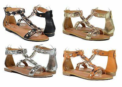 Women Sandals Fashion Sexy Gold Decoration All New Style T-Strap Design Zipper