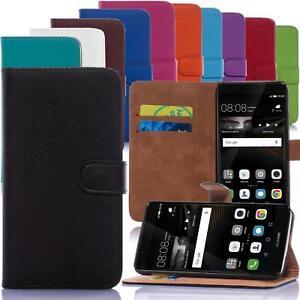 Handy-Tasche-fuer-Sony-und-Huawei-Flip-Cover-Mobile-Case-Schutz-Huelle-Etui-Bumper