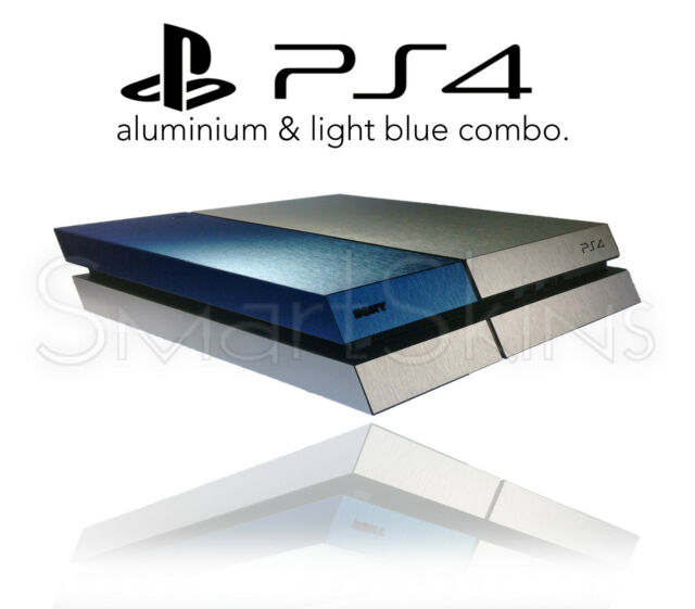 Brushed Metal Two Tone Skin For PLAYSTATION 4 PS4 Sticker Wrap Accessory Decal