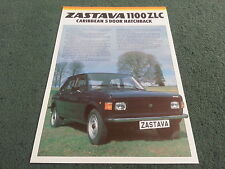 1981 1982 ZASTAVA Yugo 1100 ZLC CARIBBEAN 5 DOOR - UK COLOUR LEAFLET BROCHURE