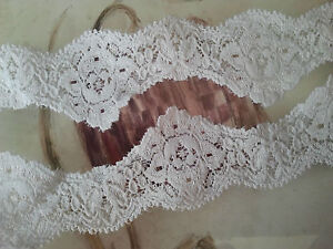 White-Lace-Trim-Trimming-Edging-40-mm-4-cm-1-5-034-Width-Sold-Per-Metre