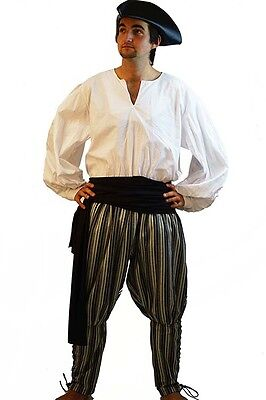 Medieval-LARP-SCA-Reenactment-Role Play-Pirate-Cosplay-SLIT NECK SHIRT-All Sizes