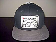Vans Shoes Mens Bear Patch Black & Grey Snapback Hat Cap Adjustable Free Ship
