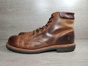 Frye-Mens-Dakota-Plain-Tof-Brown-Leather-Work-Dress-Boots-Size-13-F0054-b8