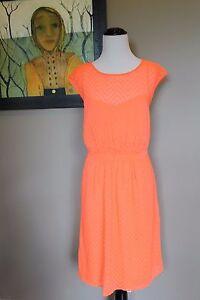 bec92519aa452 NWT J Crew Tall Sleeveless Chiffon Dress in Zigzag Neon Peach 10 10T ...