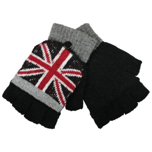 Union Jack Woolen Fingerless Gloves