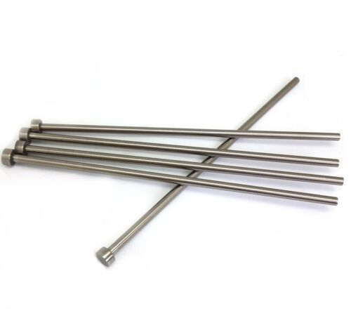 LOT100  6mm Head Diameter Round Tip Steel Straight HSS Ejector Pin 100mm Length