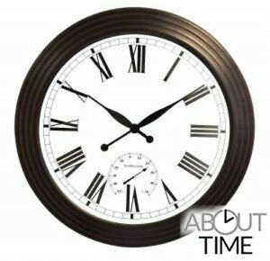 Image Is Loading Giant Round Garden Wall Clock Outdoor Large Brown