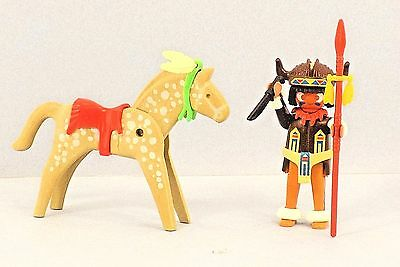 B2 1970/'s Playmobil VINTAGE INDIAN Hatchet Tomahawk Spear Peace Pipe Feathers