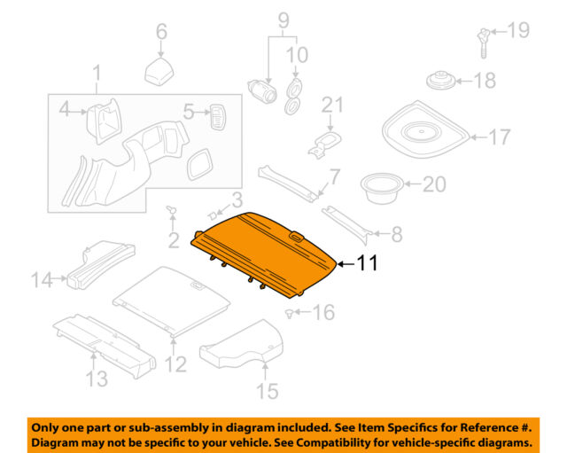 SUBARU OEM 98-00 Forester-Tonneau Cover 65560FC001ND