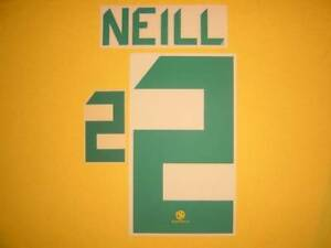 #2 NEILL NAME NUMBER SET FOR 2012/2013 AUSTRALIA SOCCEROOS HOME JERSEY
