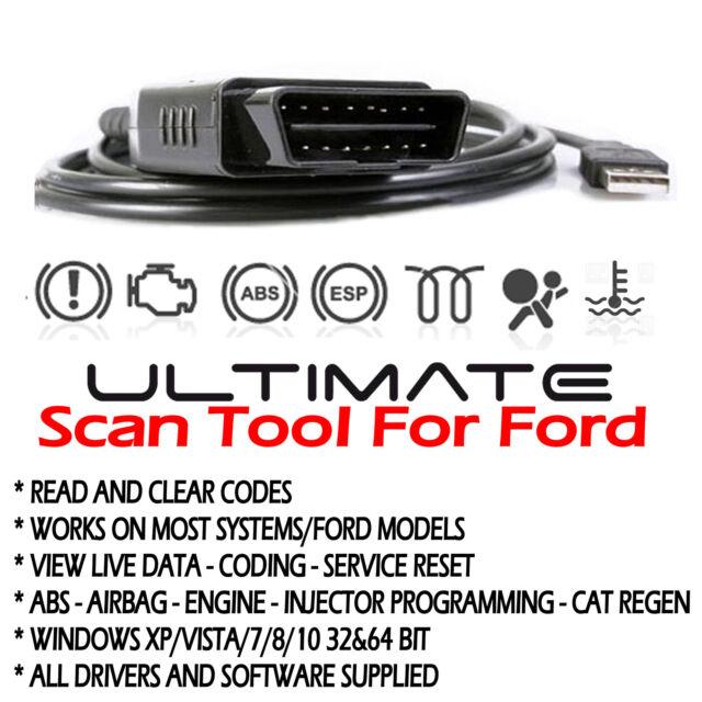 For Mazda Ford OBD Chip-Tuning OBD2 Car ECU Program Diagnostic USB Cable  Scanner