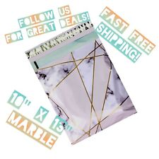 Upaknship 10x13 Marble Designer Poly Mailers Shipping Envelopes