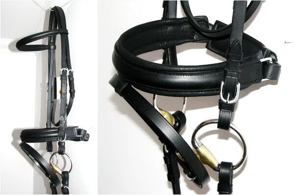 FSS German DRAFT Percheron Heavy Horse Warmblood Comfort CRANK Dressage BRIDLE