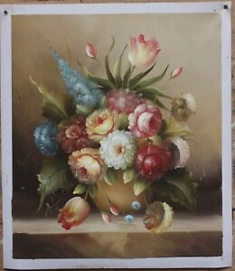 20-034-x24-034-Art-oil-painting-on-canvas-still-life-realism-flower-100-hand-painted