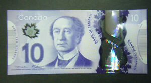 Canada $10 GEM UNC new polymer paper money Bank Notes Consecutive SNs bill