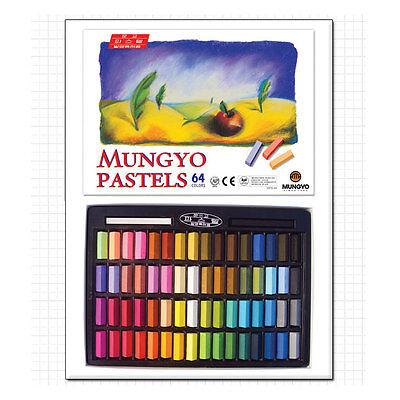 MUNGYO Soft Pastels 24 32 48 64 Vivid Colors Half Size For Artists