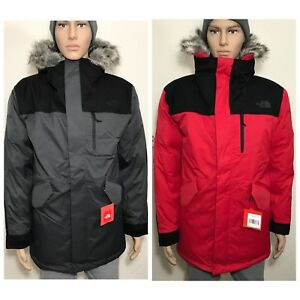 The North Face Men s Bedford Down Parka Grey Red Black Sz S M L XL ... b1589fdaa