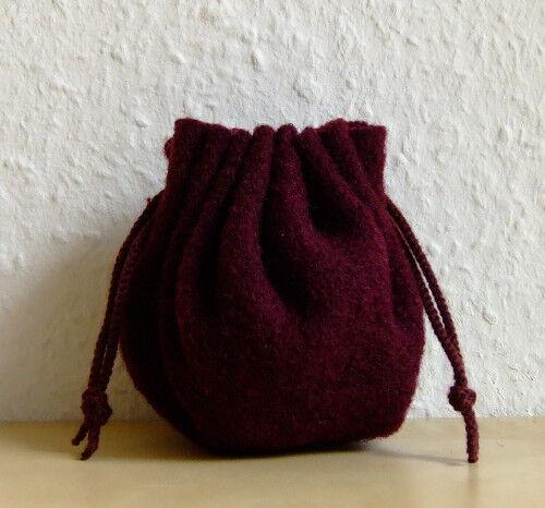 Mittelalter LARP Rollenspiel Würfelbeutel Geldbeutel Beutel violett 25cm Wolle