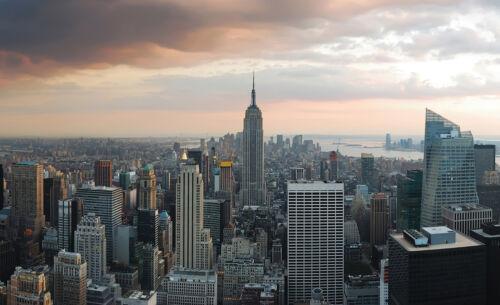 VLIES Fototapete-NEW YORK- 133 -Manhattan Stadt USA Skyline City Taxi Rock XXL