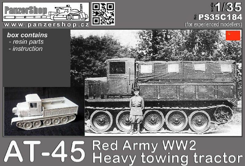 AT-45 Red Army WW2 Heavy Towing Vehicle complete resin resin resin kit 1 35 PanzerShop C184 f22938