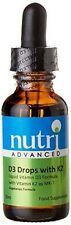 Nutri Advanced Vitamin D3 Drops with K2 30ml