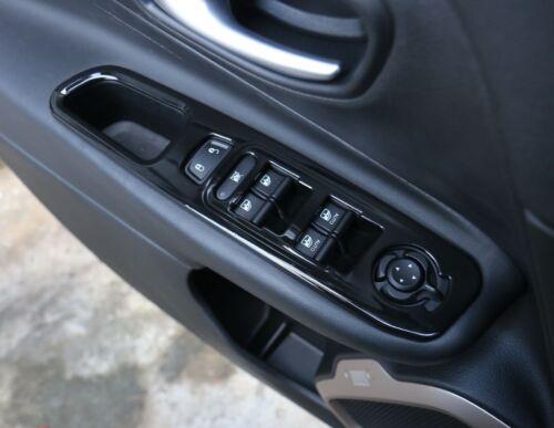 For Jeep Renegade 2015-2017 Black Door Armrest Window Lift Button Cover Trim 4PC