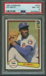 1982-DONRUSS-LEE-SMITH-252-GRADED-PSA-8-NM-MT-CHICAGO-CUBS
