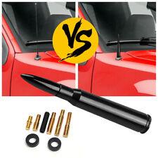 Fit Chevy Silverado Sierra 50 Caliber Bullet Aluminum Short Antenna Black