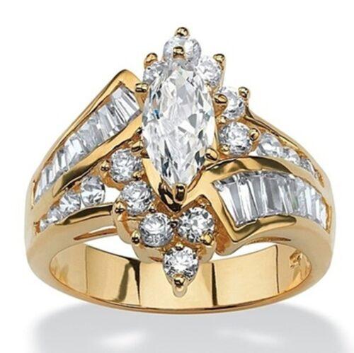 Fashion 18K Rose Gold Filled Pink Sapphire Wedding Hope Ring Women Jewelry 6-10