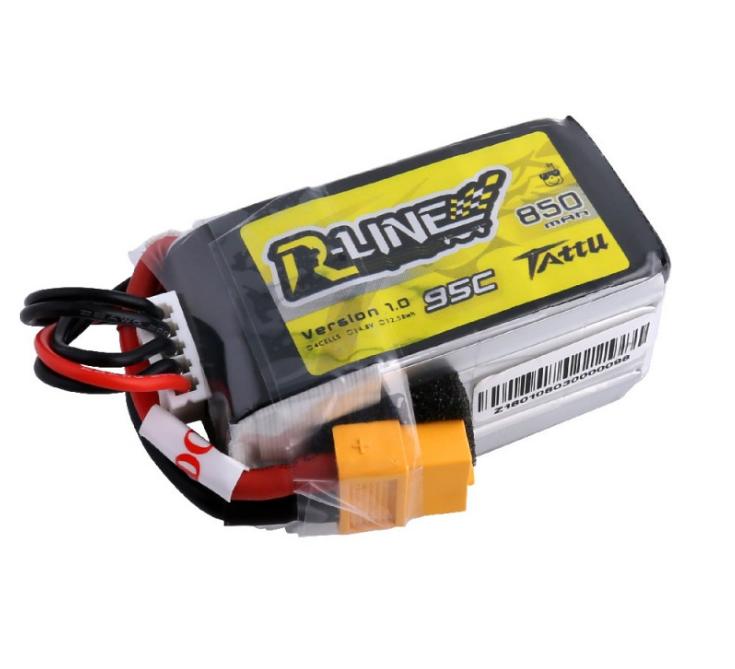 2x Tattu 850mah 4s 14.8v 95c 190c Lipo batteria accumulatore accumulatore accumulatore modellololololololololismo con spina xt60 de97c9