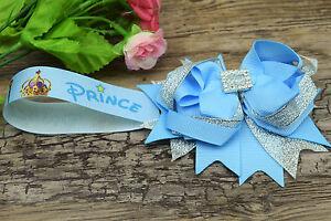 Stunning magnetic pram charm corsage  rhinestone diamonte in blue boys