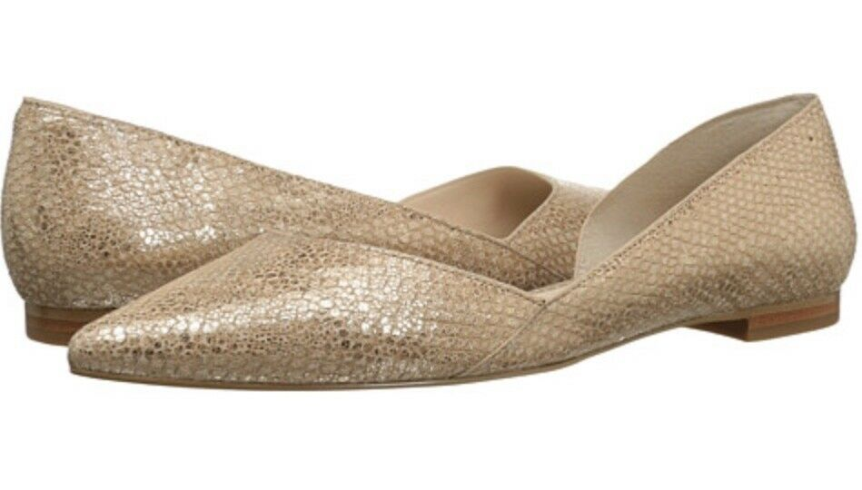 Marc Fisher LTD Womans Sunny 3 Light-Natural Leather Flats shoes. Sz. 6M.  69.99