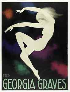 Original-Art-Deco-Poster-Paul-Colin-Georgie-tombes-Ballet-Danse-1928