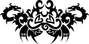2-Dragons-Facing-stencil-350-micron-Mylar-not-thin-stuff-TaT0048