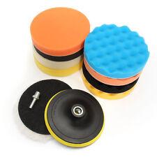 11Pcs 6'' Polishing Waxing Sponge Set Buffing Pad Kit Drill Adapter Car Polisher