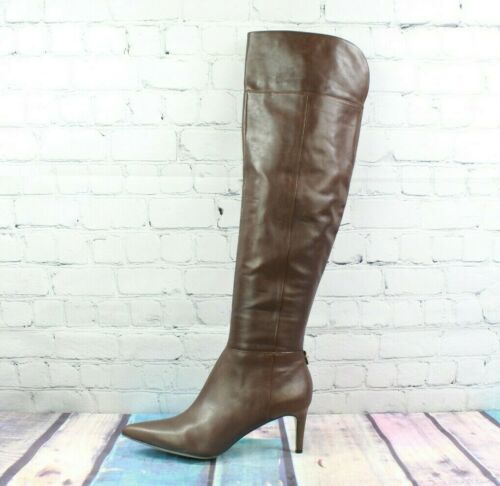 Calvin Klein Leather Coletta Brown Over the Knee h
