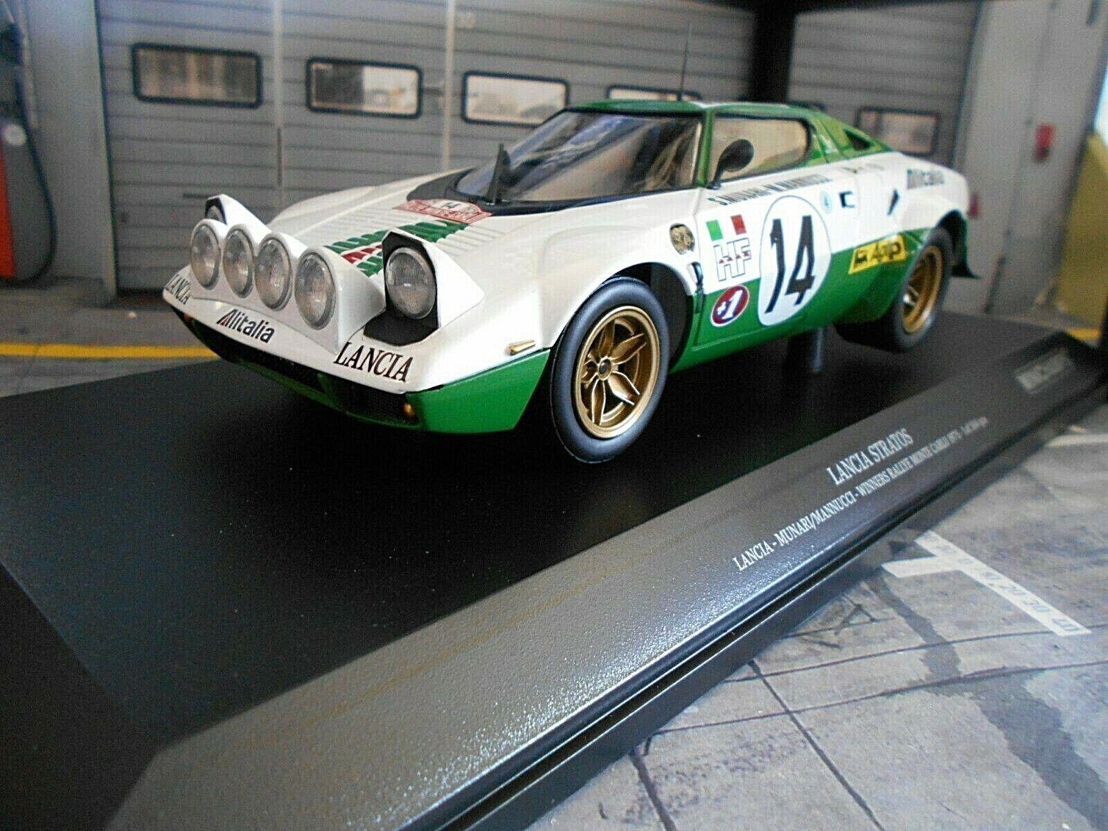 LANCIA Stratos HF Rally Monte Carlo 1975  14 MUNARI WINNER ali Minichamps 1 18