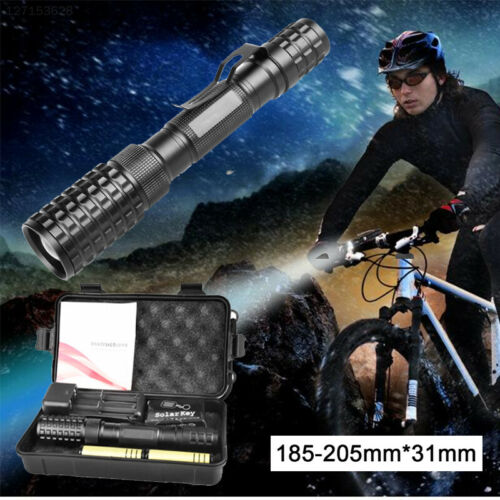 35A4 with 2x 18650 Battery LED Flashlight Climbing Waterproof Portable Torch
