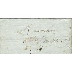 Marque-postale-Franchise-034-SERVICE-DES-POSTES-034-sur-imprime-de-l-039-An-8-SUP-R