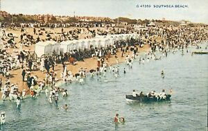 Southsea Beach postcard (Photochrom, no. G 47359) 1910s. Passed by Censor 1917