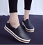 Womens-Oxfords-Flats-Slip-On-Breathable-Faux-Leather-Casua-Sneakers-Shoes-Size