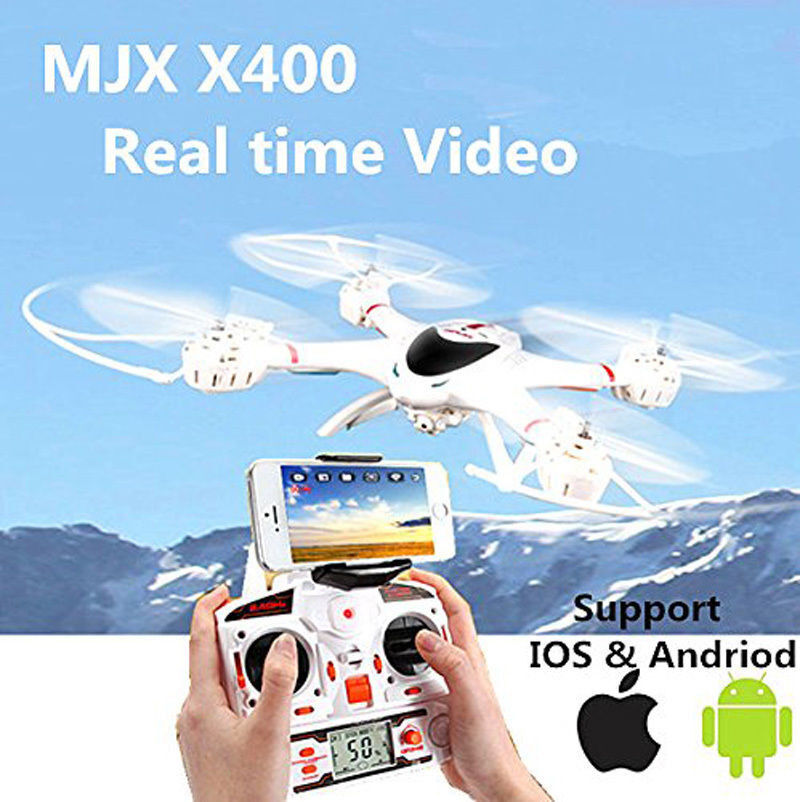 MJX X400 2.4G 6-Axis Gyro 4CH RC Drone Helicopter Quadcopter&C4005 FPV HD Camera