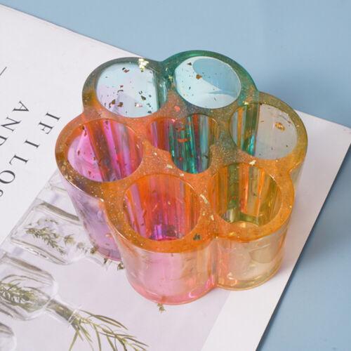 Resin Mold Round Lipstick Storage Box Case Holder Epoxy Casting Silicone DIY