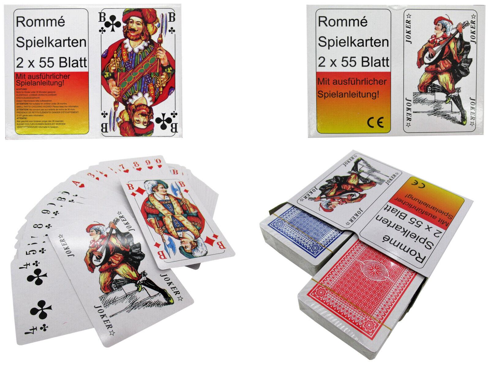 144 Romme Kartenspiel Spielkarten Rommekarten Canasta Bridge Skat Poker Posten